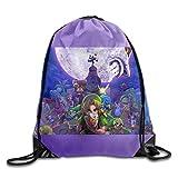 FTKLSS Lightweight Foldable Large Capacity The Legend of Zelda Majoras Mask 3D Sack Bag Drawstring Backpack Sport Bag