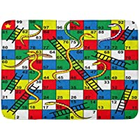 """LXJ-CQ Doormats Bath Rugs Door Mat Colorful Kid Snakes and Ladders Board Game Start Finish Puzzle Number 19.5""""x31.5"""""""