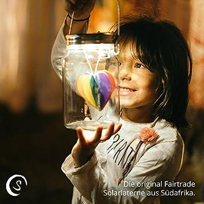 SONNENGLAS® Original -Solarlampe / Solar-Laterne mit USB Anschluss - Fair Trade Solar Jar, Sun Jar