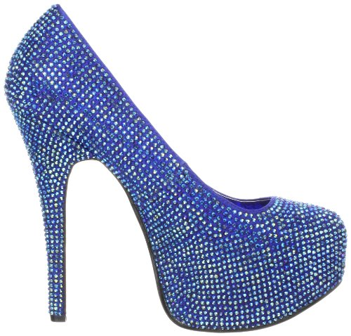 Pleaser Eu-Tee06R/Iri, Escarpins femme Blau