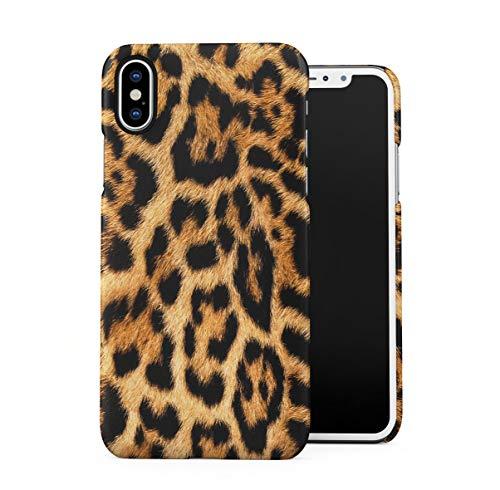 Leopard Fur Pattern Dünne Handy Schutzhülle Hardcase Aus Hartplastik Hülle Kompatibel mit iPhone X, iPhone XS Handyhülle Case Cover Leopard Cover