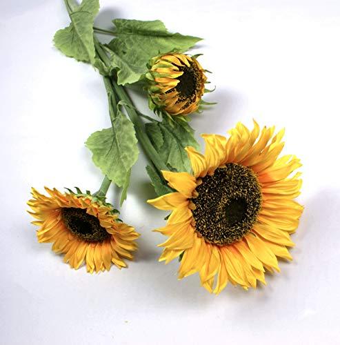 P.Shop Künstliche Sonnenblume Gelb große Blüte Ø ca. 20 cmH: ca. 108 cm