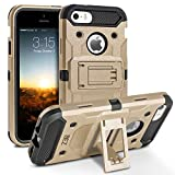 BEZ Coque pour iPhone 5S, Coque Etui Housse iPhone 5 5S Se Antichoc Militaire [Tough...