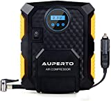 Air Compressor,AUPERTO DC 12V Compact 150 PSI Digital Tyre Inflator Pump Portable with LED Light