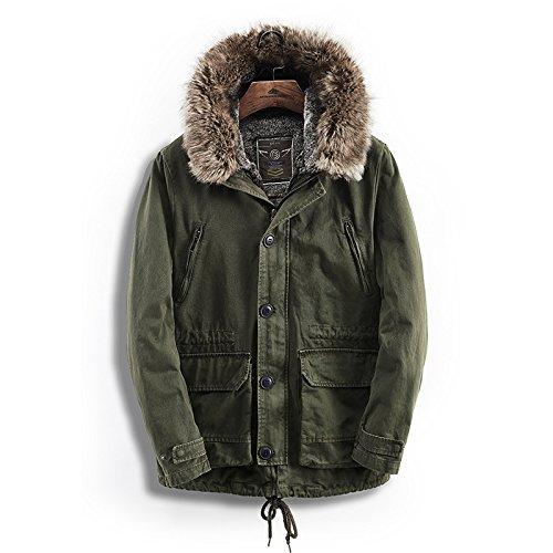 männer - mode aus ausgestopften kleidern, winter und herbst kleidung, männer - mützen, mitte lange baumwolle gepolsterte kleidung,grüne,m
