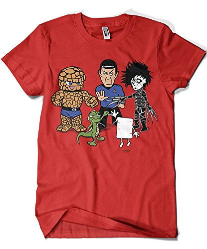 541-Camiseta Big Bang Theory - Piedra Papel Tijera, Rojo-S
