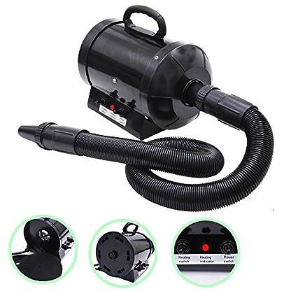 BTM PRIMDAY 2800W Dog Dryer Pet Dog Blaster Fur Grooming Adjust Low Noise Coat Blowdryer Hairdryer High Velocity (Blue) 1