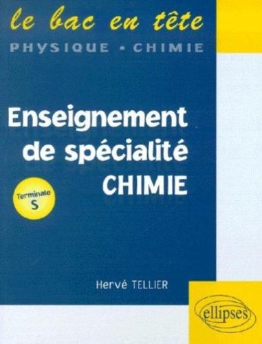 Enseignement de spécialité : Chimie, Terminale S