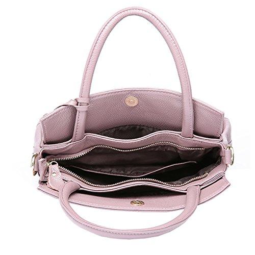 Leder Satchel Tote Handtaschen Schultertaschen Taschen Violett Q0879 Dissa Damen xzwqw1U