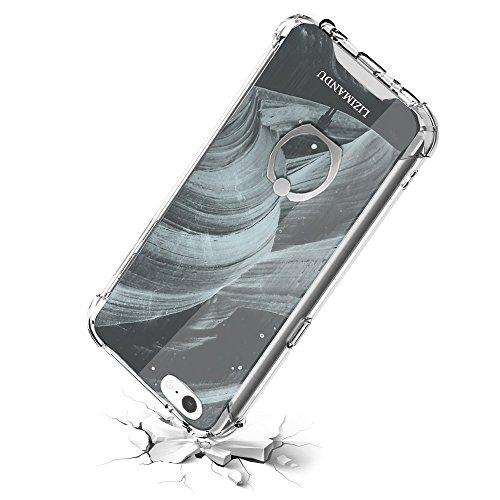 Lizimandu Telefon-Kasten für iphone 6/6s - TPU Case Schale Durchsichtig Transparent Etui Cover Protective Shell Telefon Kasten Soft Schutzhülle Muster(Hirsch Purpurrot/Deer Purple) Schwarzes Loch/Black Hole