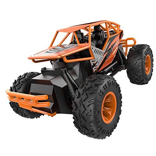 HKFV 1:16 kletterwagen LKW-Puppe RC Mini-Rennwagen 2WD Offroad Monster Buggy Crawler Off Road Auto Geschenk Spielzeug (Orange)
