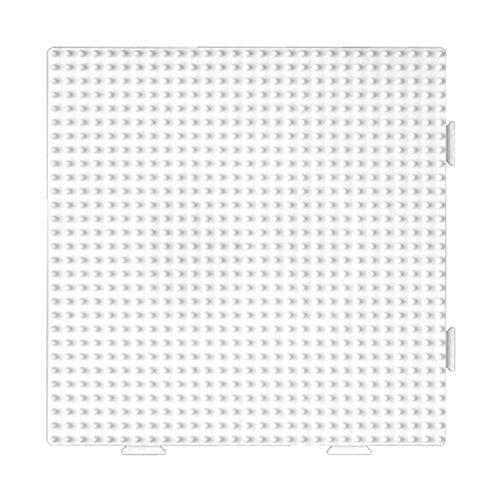 Hama-234tr-Kreativset-Midi Platte-quadratisch assemblable transparent (Kunststoff-platten Quadratisch Durchsichtigen)