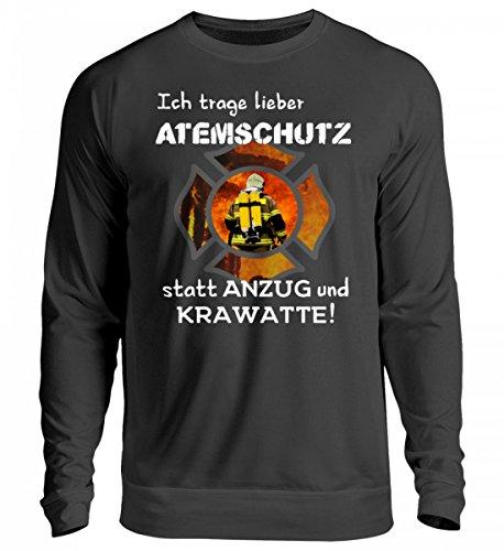 Feuerwehr Shirt Hoodie - Ich trage Lieber Atemschutz statt Anzug und Krawatte! 112 - Unisex Pullover