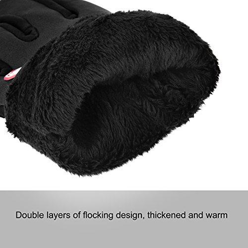 Vbiger TouchscreenHandschuhe Sport Handschuhe Fahrradhandschuhe Handy Handschuhe Motorrad Handschuhe mit Fleecefutter für Winter - 8