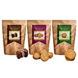 #10: Hand-Baked Gluten Free Dog Biscuits-Carob+Honey-Oats+Coconut (Pack Of Three)