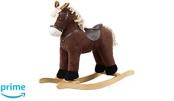 sehr edel CORD COTTON s/ü/ß Sweety-Toys 6847 AMIGO Schaukelpferd dunkelbraun super