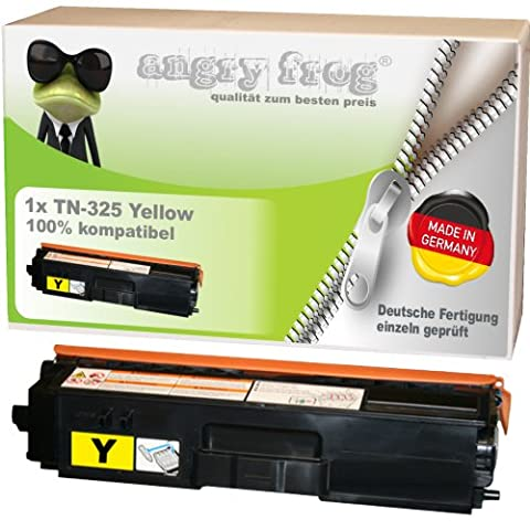 Yellow Toner made in Germany ersetzt BROTHER TN325 BK/ C/ M/ Y - für BROTHER DCP 9055 CDN, DCP 9270 CDN, HL 4140 CN, HL 4150 CDN, HL 4570 CDW, HL 4570 CDWT, MFC 9460 CDN, MFC 9465 CDN, BROTHER MFC 9970