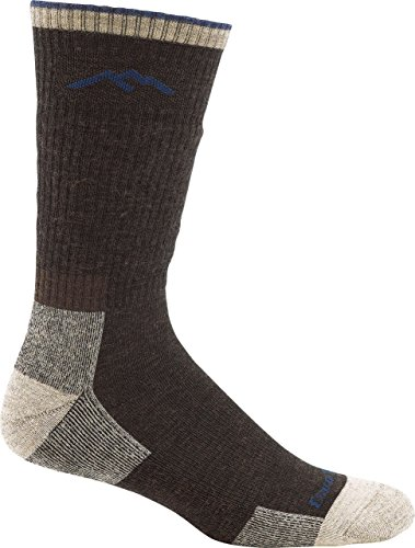 Maldito Cuscino rigida in silicone e TPU 1403 Calzini in lana di pecora con lana merino mid-altezza, Uomo, marrone, M