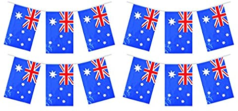 My Planet 24 x Australia Australian Premium Quality Flag Bunting Huge 10m Party Decoration Banner