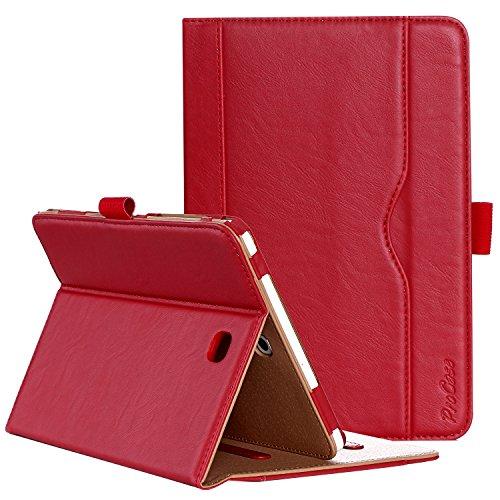 ProCase Custodia per Samsung Galaxy Tab S2 8.0 - Custodia Stand Folio per 2015 Galaxy Tab S2 Tablet (8,0 pollici, SM-T710 T715 T713), con Angoli di Visuale Multipli, Tasca per Schede Documenti -Rosso