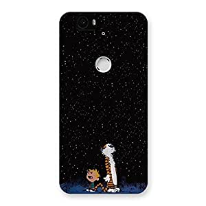 Special Counting Stars Multicolor Back Case Cover for Google Nexus-6P