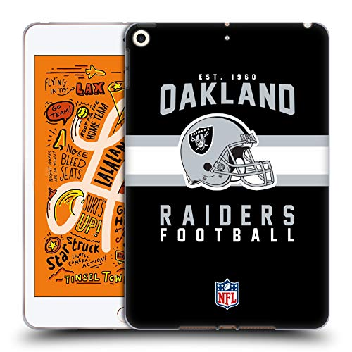 fizielle NFL Helm-Buchdruckerkunst 2018/19 Oakland Raiders Soft Gel Huelle kompatibel mit iPad Mini (2019) ()
