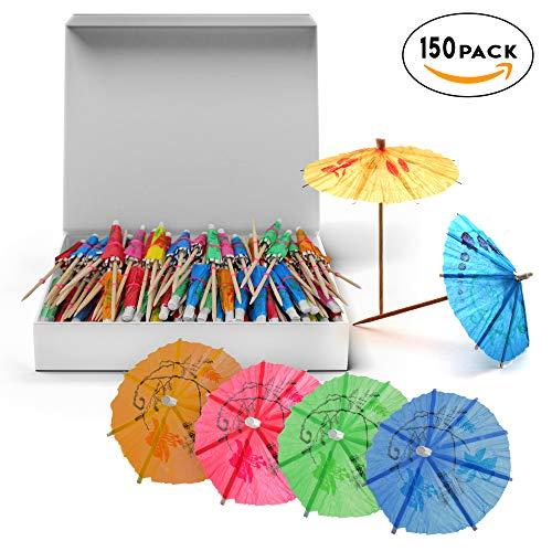 MATANA 150 Einweg-Cocktailschirme Cocktail-schirmchen Hawaï Parasol Paraplu - -