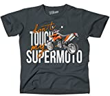 Siviwonder Unisex T-Shirt - SUPERMOTO SM BIKE - dont touch my - Motorrad Fun dark grey XL