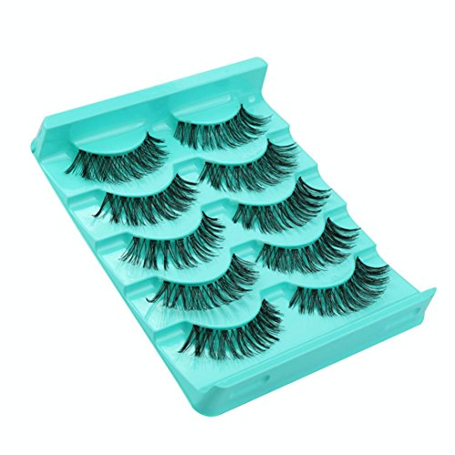 WINWINTOM 5 Paar / Lot Crisscross Falsche Wimpern Wimpern Voluminous Eye Peitschenhiebe