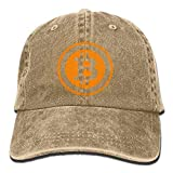 CrownLiny Bitcoin Logo 2017 Washed Retro Adjustable Cowboy Hat Trucker Cap for Man and Woman