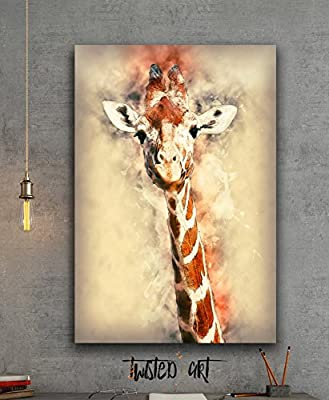 Giraffe Animal - Canvas Print - Wall Art - Framed Canvas Art