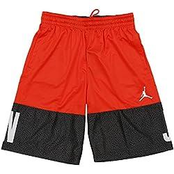 Nike Classic AJ Blockout Pantalón Corto Línea Michael Jordan de Baloncesto, Hombre, Naranja (Max Orange / White), S