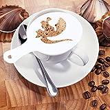PP Kunststoff Kaffee Blumen sterben Fancy Kaffee Druck Vorlage Modell Milch Schaum Spray Werkzeug 16Für Cappuccino Fancy Kaffee Latte B silber