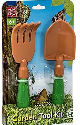 EDU Toys Schaufel und Rechen - Robuste und handliche Gartengeräte für Kleinkinder ABS-Kunststoff