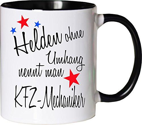 Mister Merchandise Becher Tasse Helden ohne Umhang nennt Man KFZ-Mechaniker Kaffee Kaffeetasse...