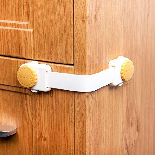(Mitlfuny Baby Kindersicherung Schrank Klemmen Schrankschloss Schubladen Kommode Kühlschrank Sicherheitsschlösser (B))