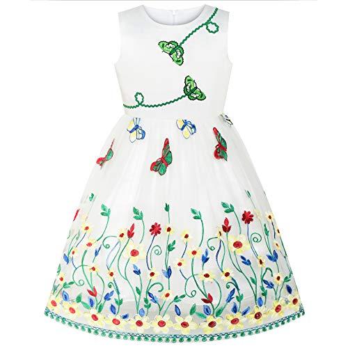 Sunboree Mädchen Kleid Schmetterling Blume Party Geburtstag Gr. 110