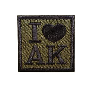 Cobra Tactical Solutions Embroidery Patch I ? AK with Hook & Loop for Cosplay/Airsoft / Paintball