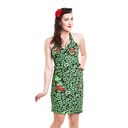 Kleid Poison Ivy Green (Batman Damen Bleistiftkleid - Poison Ivy Neckholder Mini Kleid)