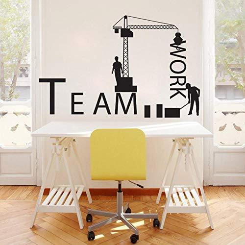 Klassische Lkw-Arbeiter Team Aufkleber Bürobau Wandaufkleber Kinderzimmer Wohnzimmer Dekoration Vinyl Decor Wandbild Poster 85X54cm