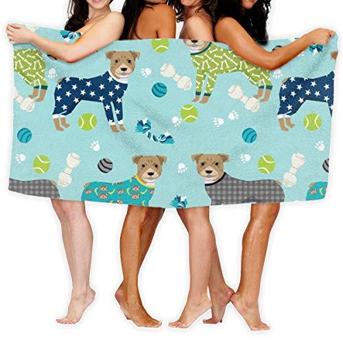 Pitbulls In Pjs - Cute Pitbull Dog Design - Pitbull Pajamas - Blue_17390 100% Polyester Beach Towel Chair (31