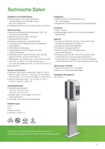KeContactP20 86875 22kW Keba Ladestation Evse Typ2 -