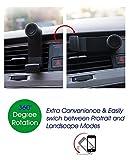 TBS2063 - Supporto per telefono veicolare Air Vent - Rotazione a 360 ° per telefono universale da 5 a 9 cm di larghezza - da 3,5 a 6,3 pollici: iPhone X / 8/8 Plus / 7 / 7S / 6 / 6S / 5/4 Samsung S8 / S8 Plus / Nota 8 / Bordo S7 / A7 / A5 / A3, GPS ecc.