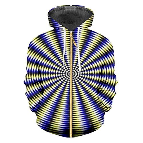 Felpe con cappuccio zip zip vortex punk rock personality hip hop street jacket 3d stampato avventura casual vortex xxxl
