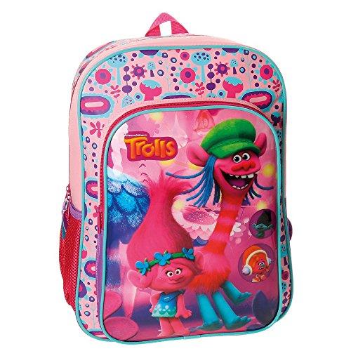 Imagen de trolls friends 48223a1  escolar, 40 cm, 19.2 litros, rosa