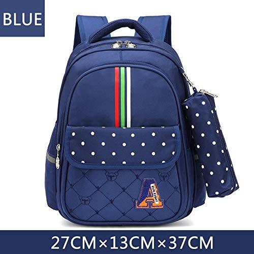 QYYDSB Kinder Rucksack Schultaschen Für Mädchen Schultaschen Kinder Reiserucksack Armbrust Rosa Kinder Tasche Blauer Junge