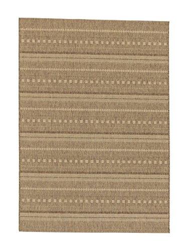 Teppich Andria - 6511-162-060 - coffee - 200 x 290 cm - Vorleger, Läufer, Gallerie, Teppich - Design: Streifen - Vielseitig und Individuell - Nicht nur im Wohnzimmer, sondern auch in der Küche und im Flur macht dieser Teppich eine gute Figur und ist dabei besonders pflegeleicht. Mit seinen vier verschiedenen Designs in drei Farbstellungen, ist er nicht nur flexibel anwendbar, sondern verleiht dazu jedem Raum einen natürlichen und zeitlosen Look.