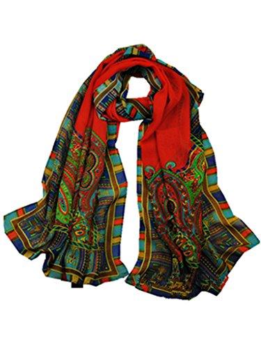 YICHUN mujeres Vintage bufandas bufanda de gasa cuello cálido envuelve pañuelo en la cabeza 160* 50cm