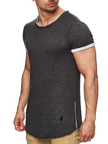 Unbekannt -  T-shirt - Basic - Maniche corte  - Uomo Antracite XXL