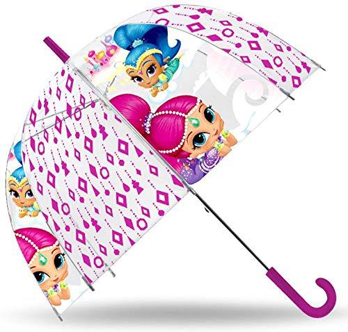 SHIMMER AND SHINE Paraguas Transparente 48cm Campana